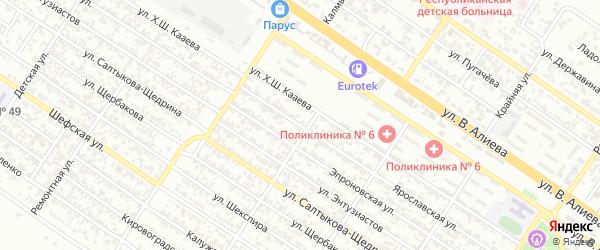 Ярославская улица на карте Грозного с номерами домов
