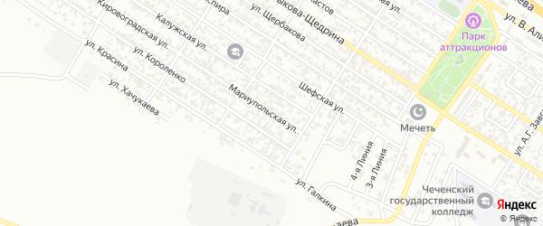 Мариупольская улица на карте Грозного с номерами домов