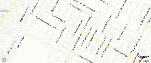 Утренний 7-й переулок на карте Грозного с номерами домов