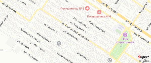 Улица С.Щедрина на карте Грозного с номерами домов