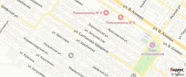 Улица им И.М.Кочумарова на карте Грозного с номерами домов