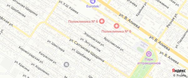 Эпроновская улица на карте Грозного с номерами домов