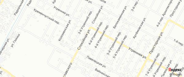 Утренний 4-й переулок на карте Грозного с номерами домов
