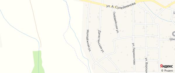Молодежная улица на карте села Алхазурово с номерами домов