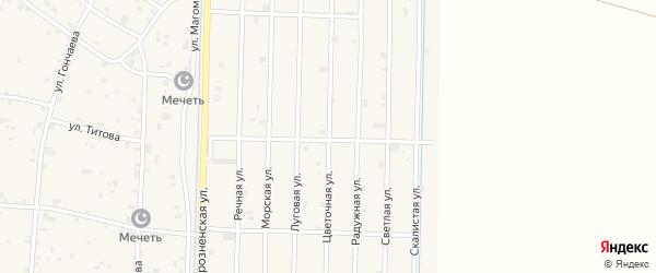 Цветочная улица на карте села Гойты с номерами домов