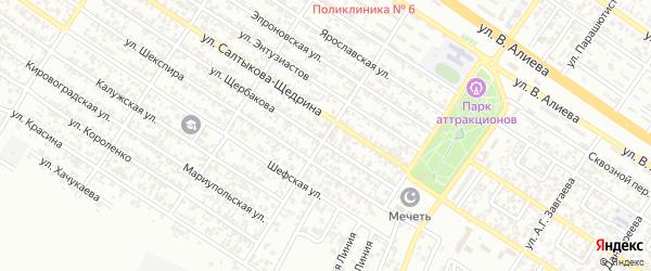 Улица им Михаила и Веры Халаповых на карте Грозного с номерами домов