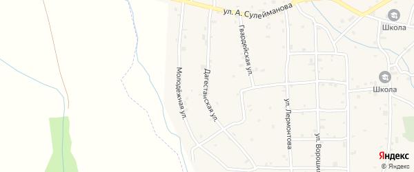 Дагестанская улица на карте села Алхазурово с номерами домов