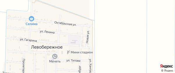 Новая улица на карте Левобережного села с номерами домов