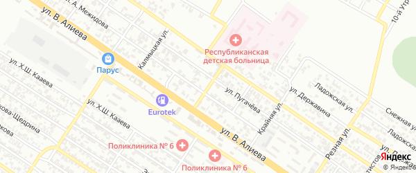 Улица Сурикова на карте Грозного с номерами домов