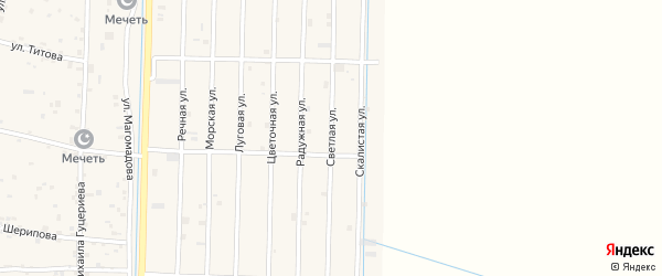 Светлая улица на карте села Гойты с номерами домов