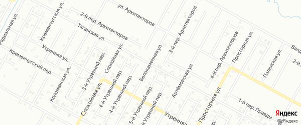 Белокаменная улица на карте Грозного с номерами домов