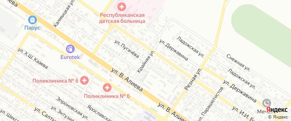Крайняя улица на карте Грозного с номерами домов