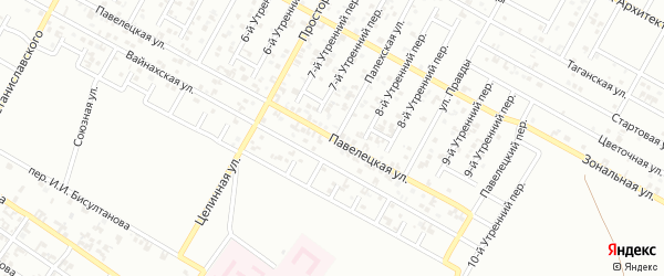 Павелецкая улица на карте Грозного с номерами домов