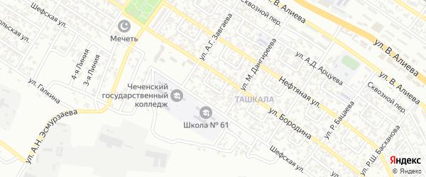 Им Бородина 3-й переулок на карте Грозного с номерами домов
