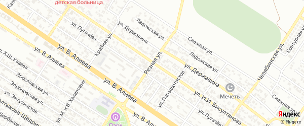 Резная улица на карте Грозного с номерами домов