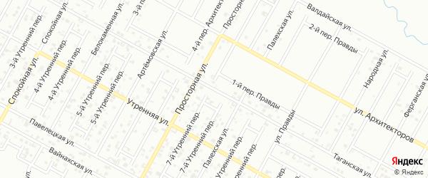 Таганская улица на карте Грозного с номерами домов