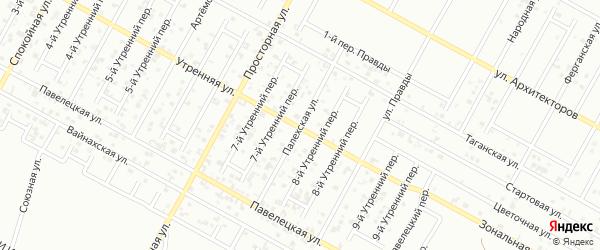 Палехская улица на карте Грозного с номерами домов