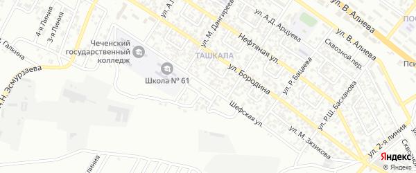 Шефская улица на карте Грозного с номерами домов