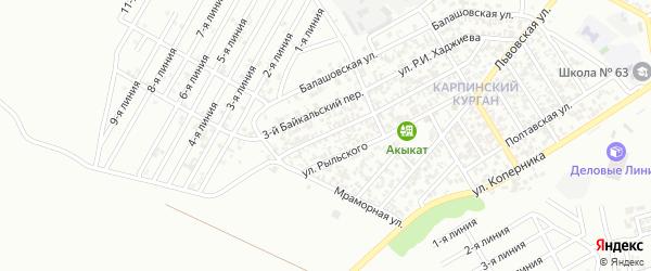 Байкальский 2-й переулок на карте Грозного с номерами домов
