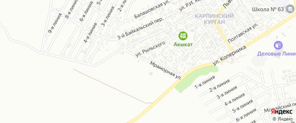 Мраморная улица на карте Грозного с номерами домов