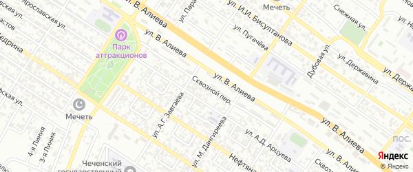 Сквозной переулок на карте Грозного с номерами домов