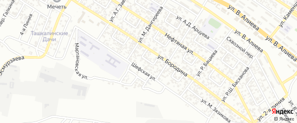 Им Бородина 2-й переулок на карте Грозного с номерами домов