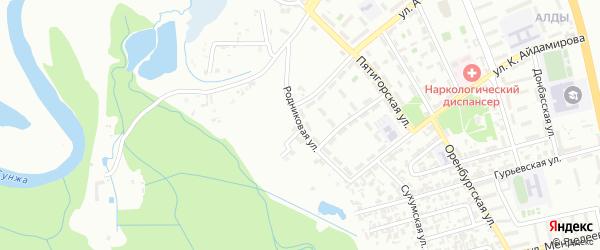 Родниковая улица на карте Грозного с номерами домов