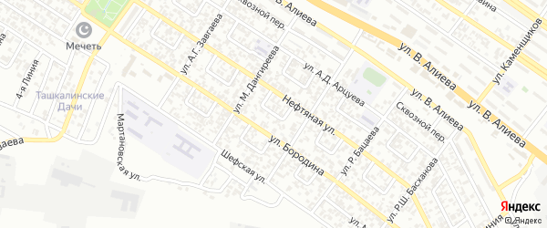 Нефтяной 3-й переулок на карте Грозного с номерами домов