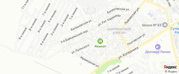Батаева 2-й переулок на карте Грозного с номерами домов