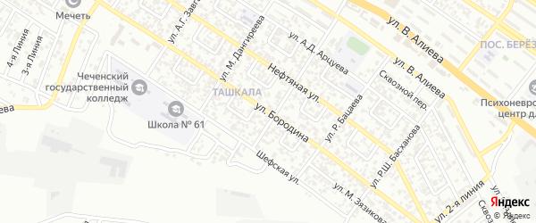 Улица им Бородина на карте Грозного с номерами домов