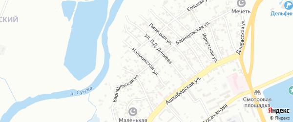 Нальчикская улица на карте Грозного с номерами домов