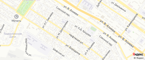 Автоматчиков 4-й переулок на карте Грозного с номерами домов