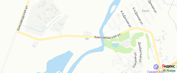 Химзаводская улица на карте Грозного с номерами домов