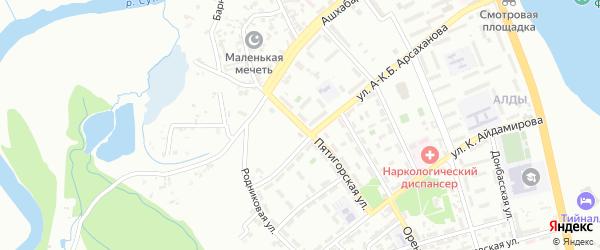 Пятигорская улица на карте Грозного с номерами домов