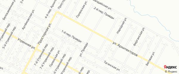 Улица Правды на карте Грозного с номерами домов