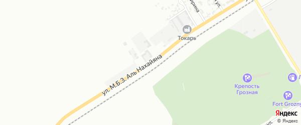 Индустриальная улица на карте Грозного с номерами домов