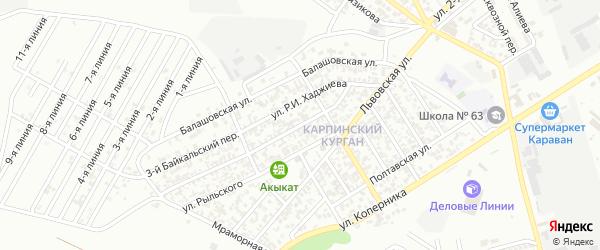 Улица им Гончарова на карте Грозного с номерами домов