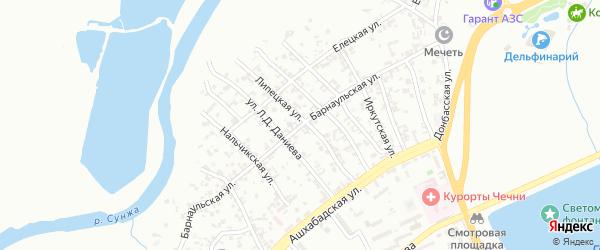 Барнаульская улица на карте Грозного с номерами домов