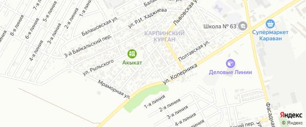 Улица им академика М.Д.Миллионщикова на карте Грозного с номерами домов