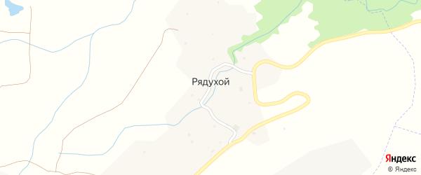 Улица Б.Салаева на карте села Рядухой с номерами домов