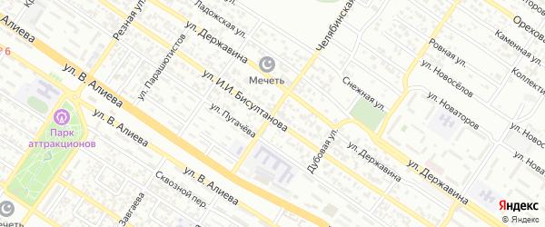 Сплавная улица на карте Грозного с номерами домов
