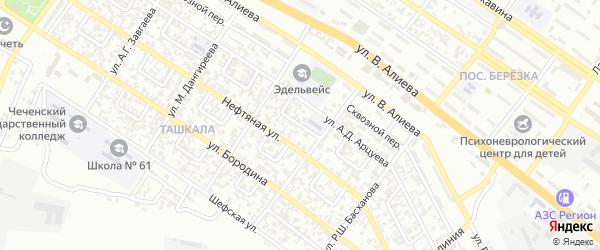 Ташкалинский 3-й переулок на карте Грозного с номерами домов