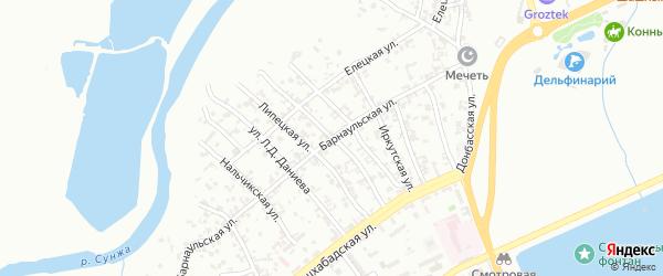 Киргизская улица на карте Грозного с номерами домов