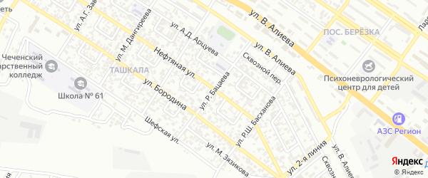 Улица 4 Линия на карте Грозного с номерами домов