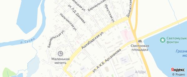 Ашхабадская улица на карте Грозного с номерами домов