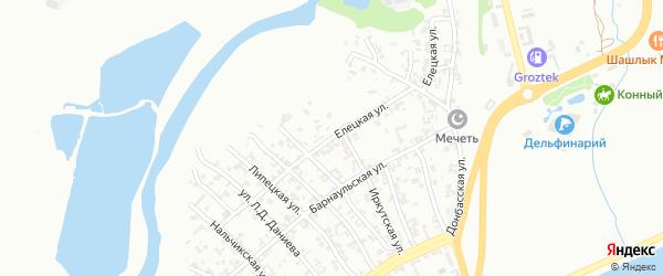 Елецкая улица на карте Грозного с номерами домов