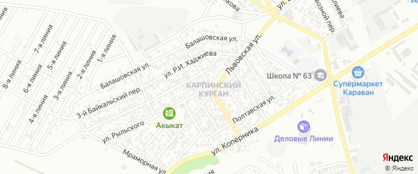 Улица Володарского на карте Грозного с номерами домов