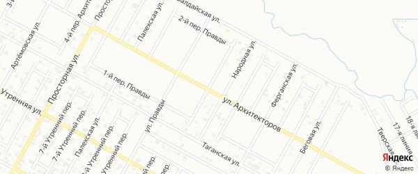 Правды 2-й переулок на карте Грозного с номерами домов