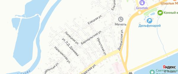 Кисловодская улица на карте Грозного с номерами домов