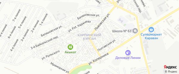 Львовская улица на карте Грозного с номерами домов